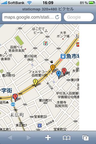 Google マップ表示例